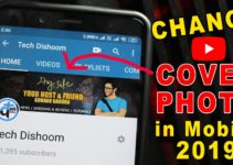 Change YouTube cover art/photo on android or ios
