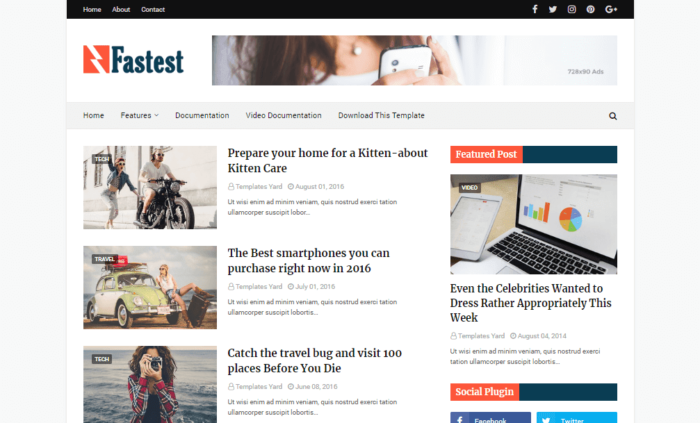 5 Top Free Blogger Templates of 2019 (SEO Friendly & Fast) 1