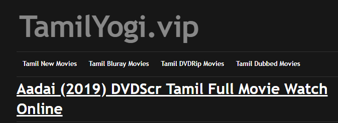 TamilYogi 2019 - Watch & Download Latest Tamil Movies Online